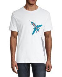 French Connection Men's Rocket Graphic T-shirt - Linen White - Size M