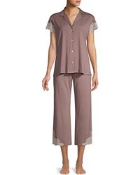 Natori - 2-piecelux Shangrila Pajama Set - Lyst