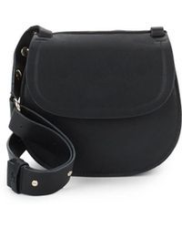 French Connection - Celia Faux Leather Saddle Bag - Lyst