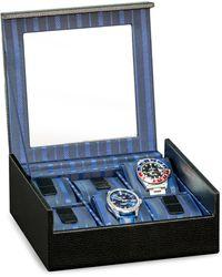 Bey-berk Textured Leather Watch Case - Black