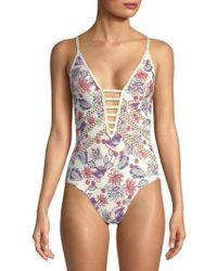 Ella Moss - One-piece Folktale Floral Swimsuit - Lyst