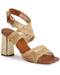 d7b49a1ef9b8 Prada. Metallic Leather Sandals. £605. Barneys New York · Clergerie - Woven  Ankle-strap Sandals - Lyst