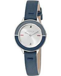 Furla - Club Stainless Steel Leather-strap Watch - Lyst