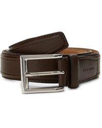 Cole Haan Logo Buckle Slim Belt - Brown