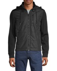 BOSS by Hugo Boss Men's Skiles Zip Hooded Jacket - Black - Size S