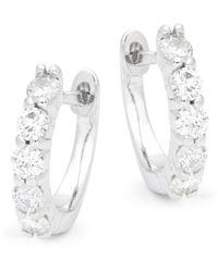 Saks Fifth Avenue 14k White Gold, White & Blue Diamond Pendant Necklace