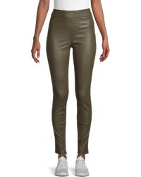Helmut Lang Zip-cuff Leather Leggings - Green