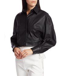 Unttld Boxy Leather Shirt - Black
