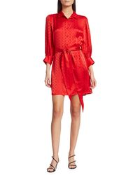 The Kooples Jacquard Shirtdress - Red