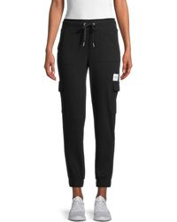 Calvin Klein Drawstring Cotton-blend Jogger Trousers - Black
