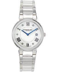 Raymond Weil Men's Stainless Steel & Diamond Bracelet Watch - Black