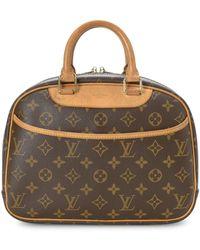 Louis Vuitton Trouville Monogram Canvas Top Handle Bag - Brown