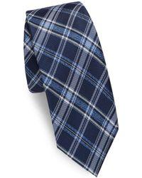 Saks Fifth Avenue - Striated Check Silk Tie - Lyst