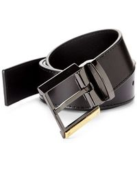 Versace Leather Belt - Black