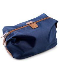 Bey-berk Nylon Toiletry Bag - Blue