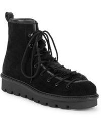 Seychelles - Cooperation Faux Fur Trim Suede Boots - Lyst