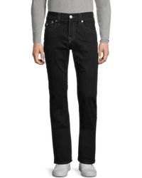 True Religion Men's Ricky Relaxed-fit Straight Jeans - Black - Size 31