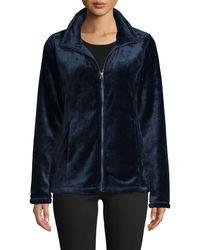 32 DEGREES Womens Plus Size Luxe Faux Fur Jacket