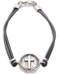 Effy - Gento Sterling Silver Cross Bracelet - Lyst