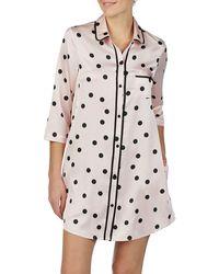 Kate Spade Dotted Satin Sleepshirt - Pink