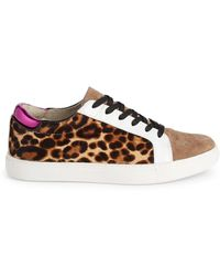 Kenneth Cole Leopard Calf Hair Leather Trainers - Multicolour
