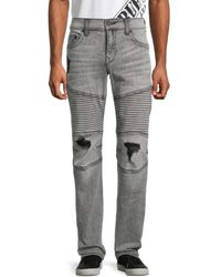 True Religion Men's Moto Slim-fit Jeans - Grey - Size 33