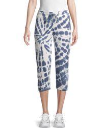 Marc New York Tie-dye Cropped Drawstring Pants - Blue