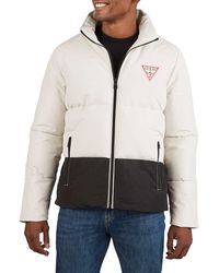 Guess Heavy-weight Colorblock Puffer Jacket - Multicolour