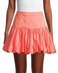 10 Crosby Derek Lam Kami Bubble Mini Skirt - Orange