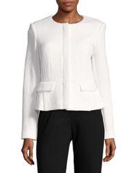 Calvin Klein - Textured Long-sleeve Jacket - Lyst