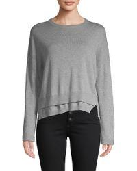 INHABIT - Double Hem Cotton Sweater - Lyst