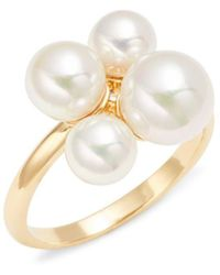Majorica - Sterling Silver & 6-8mm White Pearl Ring - Lyst