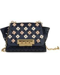 Zac Zac Posen Eartha Mini Chain Crossbody Bag - Blue