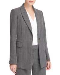 Donna Karan - Striped Notch Lapel Jacket - Lyst