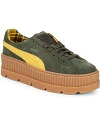 PUMA - Cleated Creeper Suede Platform Sneakers - Lyst