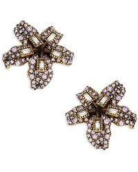 Heidi Daus Lily Crystal Drop Earrings - Multicolour