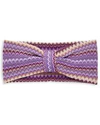 Missoni Women's Chevron Striped Cotton Headband - Purple Multi