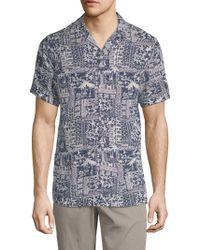 Slate & Stone - Beach-print Camp Shirt - Lyst