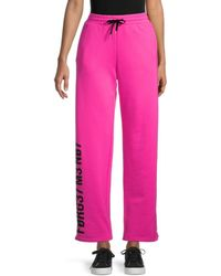 RED Valentino Women's Lettered Track Trousers - Magenta - Size S - Pink