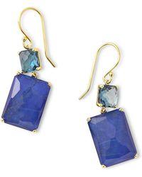 Ippolita - Rock Candy 18k Gold Rectangular Drop Earrings - Lyst