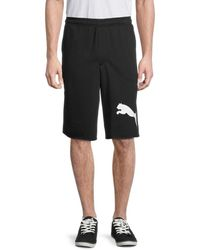 PUMA Men's Logo Shorts - Black - Size Xxl