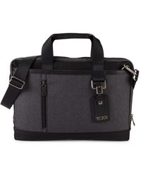 Tumi Women's Burke Port Nylon Briefcase - Gray