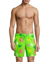 Vilebrequin Moorea Turtle Swim Shorts - Green