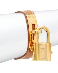 Hermès - Vintage Kelly Leather-strap Watch - Lyst