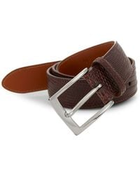 Saks Fifth Avenue - Collection By Magnanni Leather Buckle Belt - Lyst