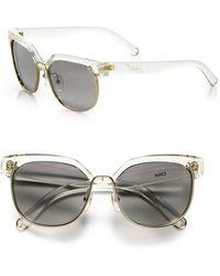 Chloé Dafne 57mm Square Sunglasses - White
