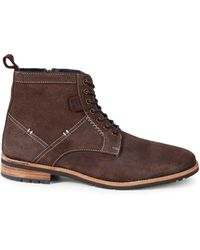 Ben Sherman Classic Leather Boots - Brown
