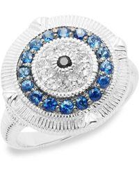 Judith Ripka - Lucky Sapphire Evil Eye Ring - Lyst