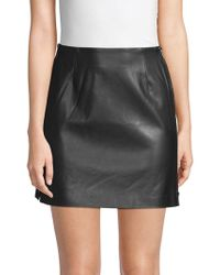 French Connection - Brishen Faux Leather Mini Skirt - Lyst