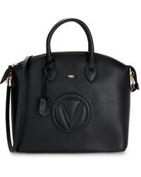 Valentino By Mario Valentino Bravia Dollaro Leather Satchel - Black